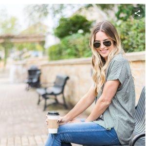 Croft & Borrow womens botton down shirt size 1x